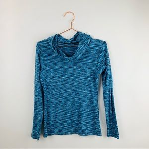 Columbia pullover blue space dye hoodie shirt